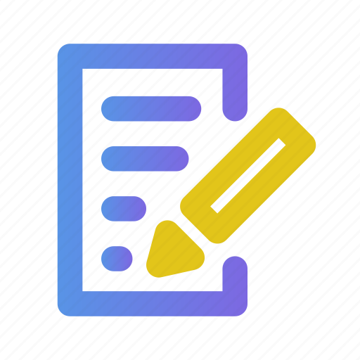document, documents, edit, editor, file, list, write icon