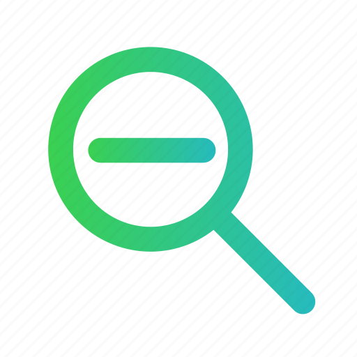 find, glass, out, search, zoom, zoom out icon