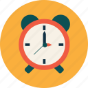 alarm, clock, college, education, study, university icon