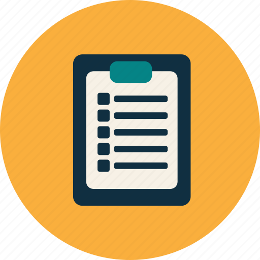 document, list, paper, school, study, university icon