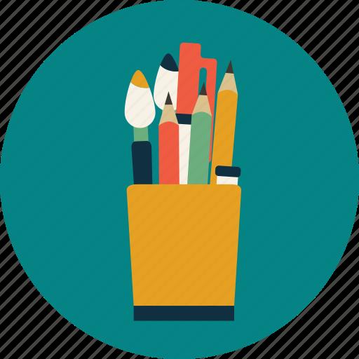 college, education, pen, pencil, study, university icon