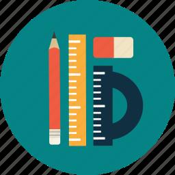 college, education, pen, rule, study, university icon