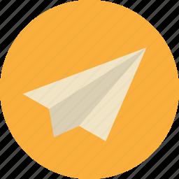 college, plane, school, send, study, telegram icon