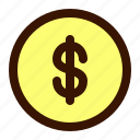 accounting, bill, buy, coin, coins, money, sell icon