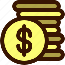 accounting, buy, coin, coins, coinstack, money, sell icon