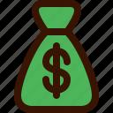 accounting, bag, bank, dollar, money, salary