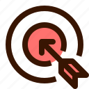 aim, arrow, goal, objective, public, target icon