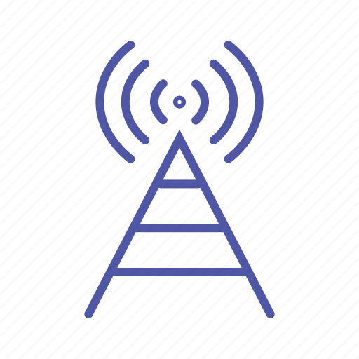 antenna, data transfer, internet, radio signals, router icon