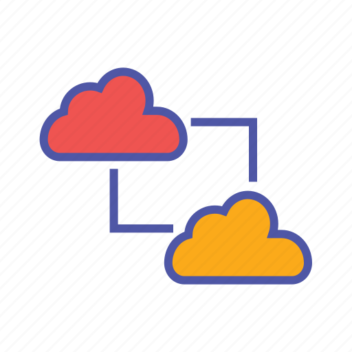 cloud clients, cloud computing, cloud data transfer, cloud network, data exchange, saas icon