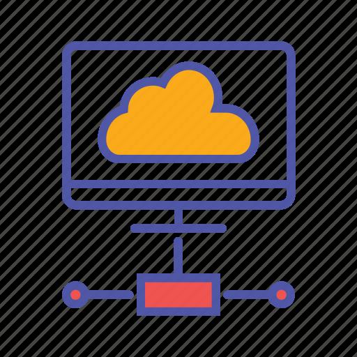 cloud communication, cloud network, cloud server, cloud storage icon