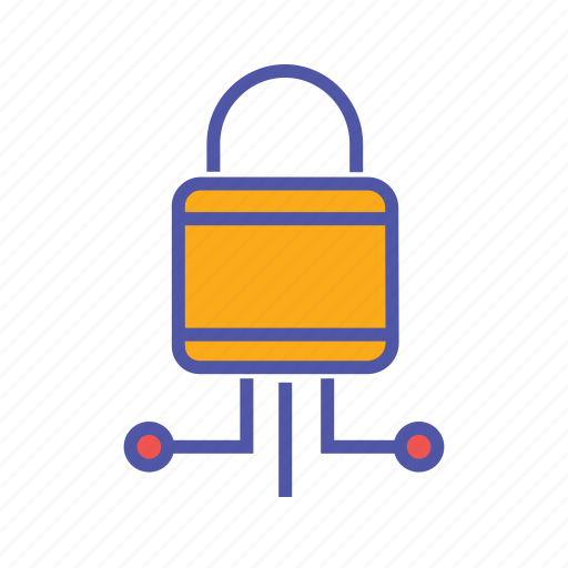 data link, protected network, secured services, security icon
