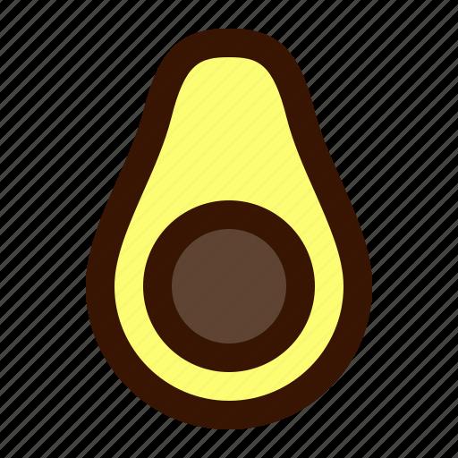 avocado, food, fruit, tropical, vegetable icon