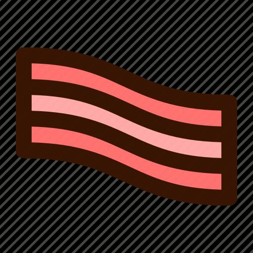 bacon, breakfast, food, meat icon