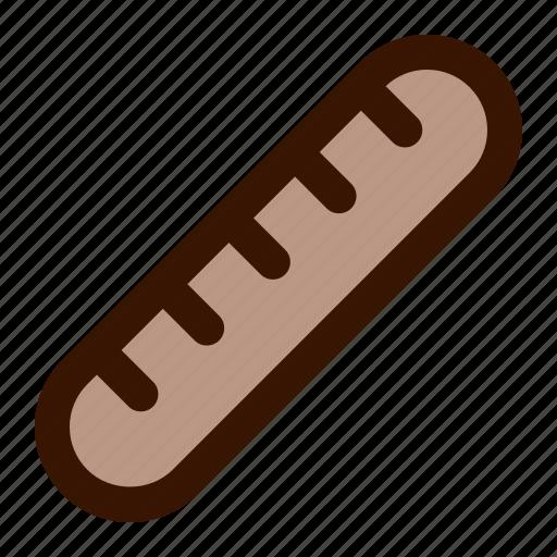 baguette, bread, food icon