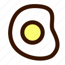 egg, food, fried