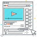 browser, marketing, online video, video icon