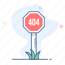 404 error, disconnect error, error, road, sign, warning icon