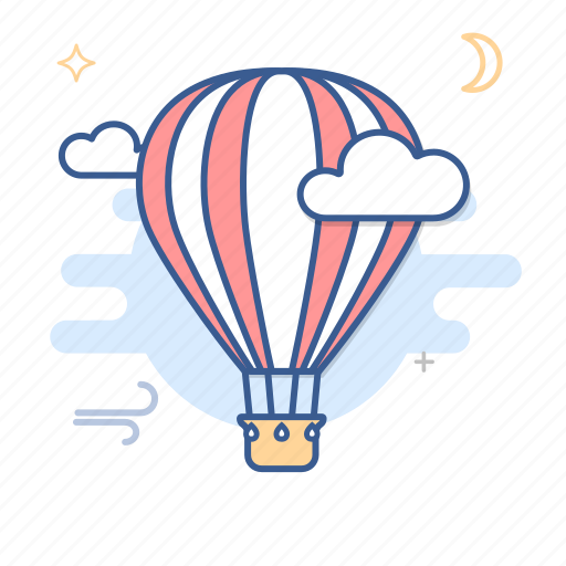 air, balloon, baloon, hot air balloon, tourism, transport, travel icon
