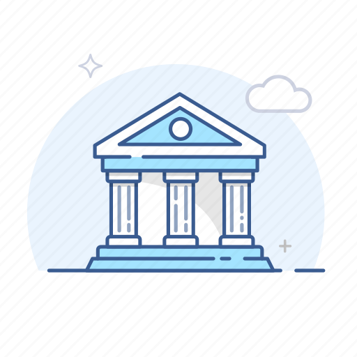bank, building, business, finance, financial, institution, money icon