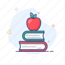 school, apple, study, fruit, learning, education, book