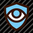 eye, politics, privacy, shield icon