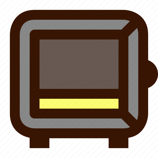 bank, box, gold, money, open, safety, security icon