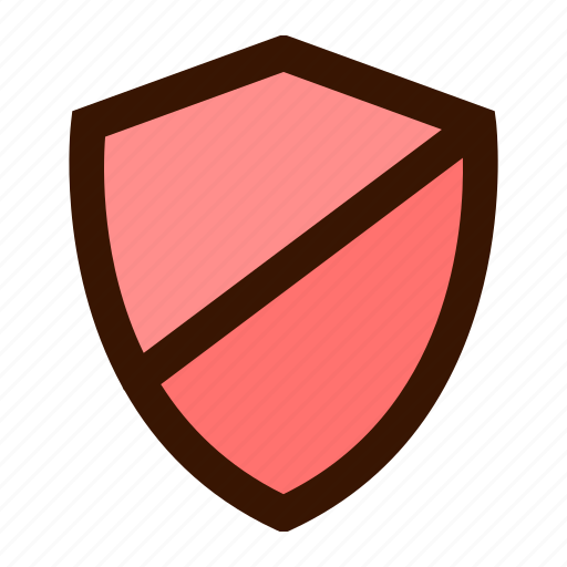 block, secure, security, shield, virus icon
