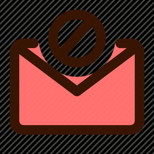 envelope, mail, message, sms, spam, virus, warning icon