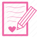 chat, conversation, description, heart, letter, love, message icon