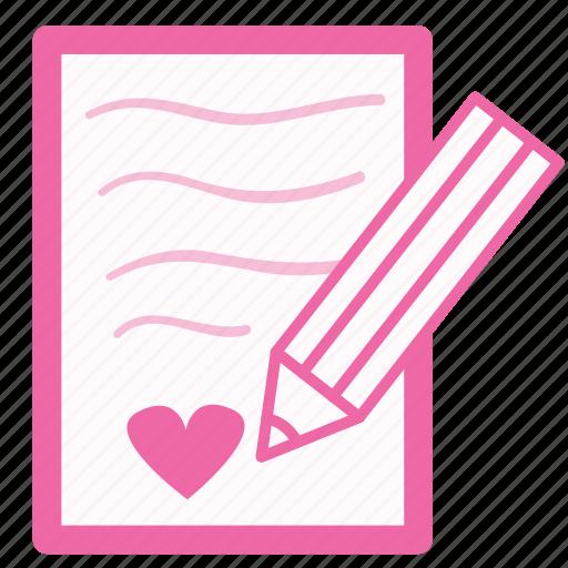 chat, conversation, description, heart, letter, love, message icon
