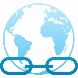 anchor, browser, communication, connect, connection, hyperlink, internet, link, network, url, web, world icon