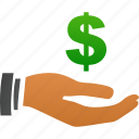 angel investor, bank, business, buy, cash, credit, dollar, earn, earnings, ecommerce, finance, hand, income, invest, money, pay, payment, price, prices, profit, salary, webshop icon