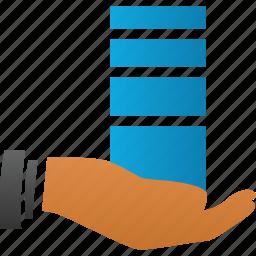 base, bigdata, connection, connections, data, db, disk, distributor, drive, hand, host, hoster, hosting, internet, network, provide, provider, saas, server, sql, storage, supplier icon