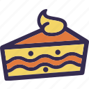 cake, delicious, holiday, orange, thanksgiving, yellow icon