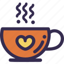 autumn, cup, fall, hot, orange, tea, yellow icon