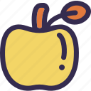 apple, autumn, fall, fruit, harvest, thanksgiving, yellow icon