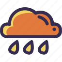 autumn, cloud, fall, orange, rain, weather, yellow icon