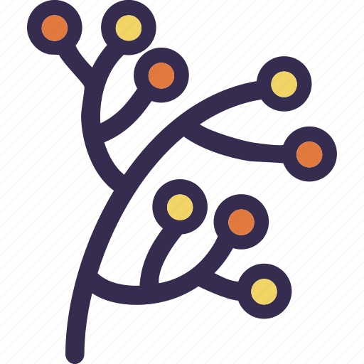 autumn, berries, branch, fall, holiday, thanksgiving icon