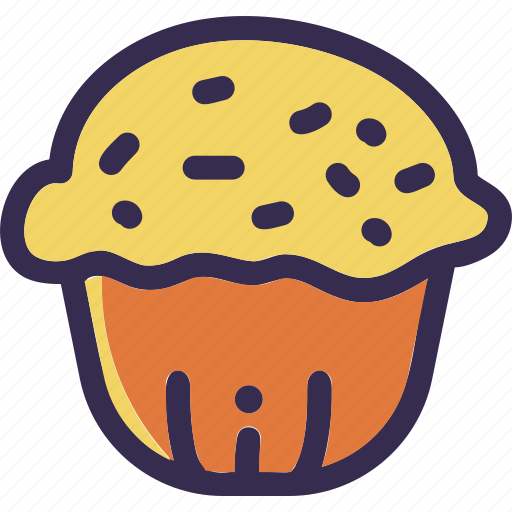 autumn, bread, cupcake, fall, holiday, thanksgiving icon