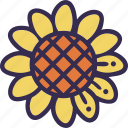 autumn, fall, flower, harvest, sunflower, thanksgiving icon