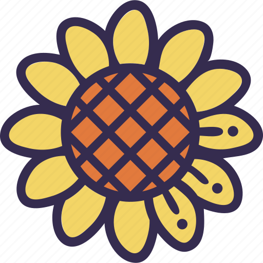 autumn, fall, flower, harvest, sunflower, thanksgiving icon