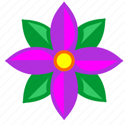 astra, bud, flower, nature icon