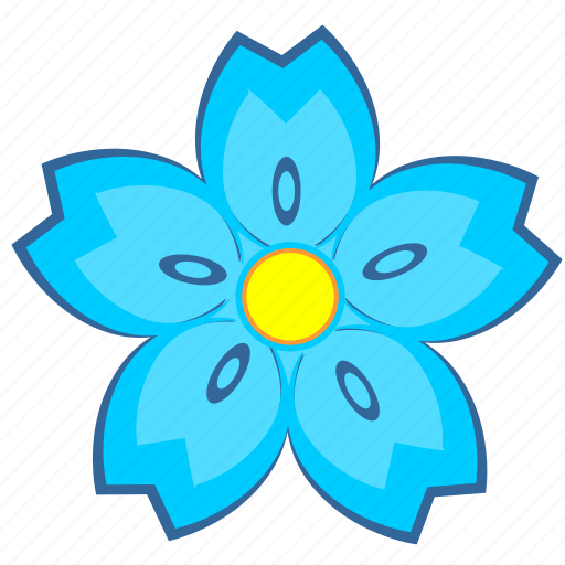 blue, bud, flower, light, nature icon