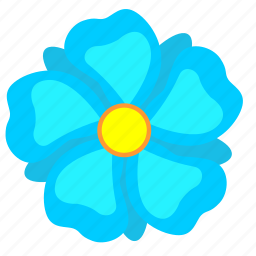 blue, bud, flower, nature icon