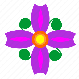 bud, nature, plant, violet icon