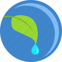 eco, green, grow, leaf, plant, round, tree icon