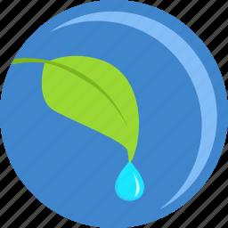 eco, green, grow, leaf, plant, round, tree icon