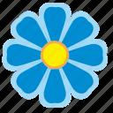 blue, flower, bud, nature icon