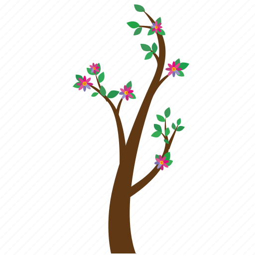 branch, flowers, nature, plant, tree icon
