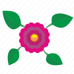 flower, plant, top, view icon